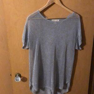 Netting pull over blouse